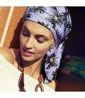 Bonnet chimio BOHO SPIRIT Zebra Flower