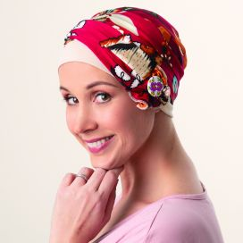 Bonnet Turban Kenaya Beige Bordeaux