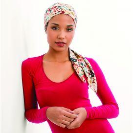 Bandana bonnet chimio Dalhia Blanc Floral