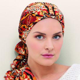 Bandana bonnet chimio Dalhia Orange Brique