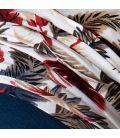 Bonnet Kenaya Bleu Canard Imprimé Plume
