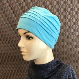 Bonnet de nuit chimio Bambou bleu Turquoise