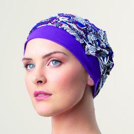 Bonnet femme chimio - Lounia - violet pourpre