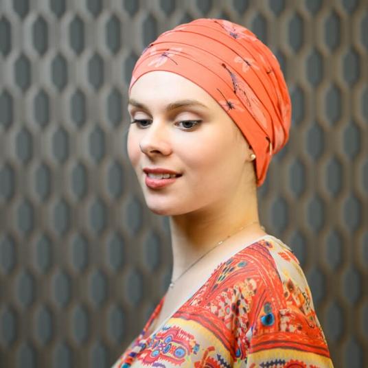 Bonnet chimio bambou Christine Headwear Rose comme femme