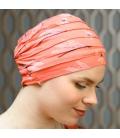 Bonnet chimio decontracte - fibre bambou - cancer - Rose comme femme