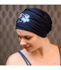 Turban Chimiotherapie - chute cheveux cancer - Nancy Waille - Rose comme femme
