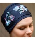 Turban radiotherapie - cancer femme perte cheveux alopecie - Nancy Waille - Rose comme femme