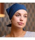 Bandana coton - chute cheveux traitement chimio - Rose comme femme