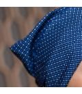 Detail bandana coton - Bleu pois - chute cheveux traitement cancer alopecie perruque - Rose comme femme