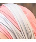 Detail turban chimio bambou - chute cheveux alopecie repousse - Rose comme femme - traitement cancer