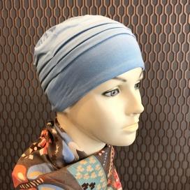 Bonnet de nuit chimio - Bambou - Indigo - Rose comme femme