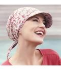 Casquette bandana chimio solaire - Estérel - chrisitine headwear - rose comme femme