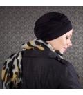 Bonnet chimio Bambou - Adèle Noir