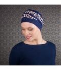 Bonnet chimio Bambou - Doris bleu