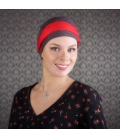 Turban chimio bambou - LESLIE Taupe rouge