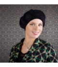 Accesoire cheveux - Beret chimio - Cancer - Chimiotherapie - Radiotherapie - Rose comme Femme