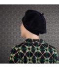 Chute cheveux alopecie - accessoire mode - beret noir - broche fleur - rose comme femme