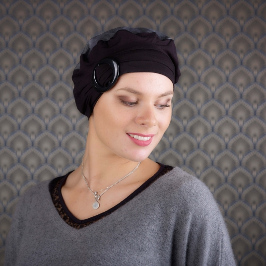 Accessoire cheveux femme - Cancer - Radiotherapie Chimiotherapie - fibres naturelle bambou - Rose comme Femme