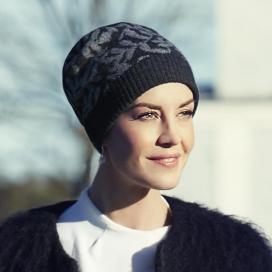 Bonnet hiver chimio courchevel - Christine headwear - Rose comme femme
