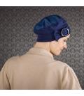 Bonnet chimio Jules en Bambou – bleu jeans