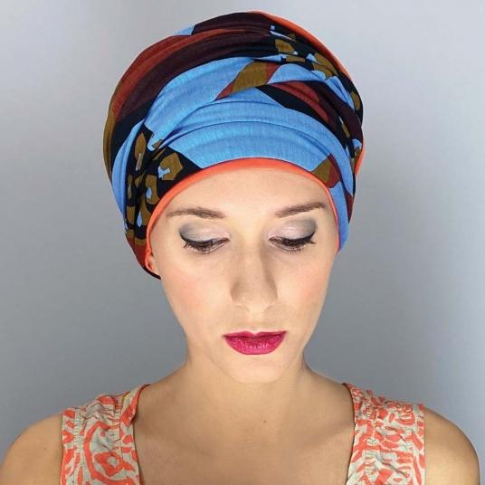 Bonnet turban chimio bambou NADIA -PAPAYE