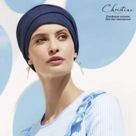 Bonnet chimio - Collection VIVA : Calin blue jean