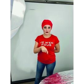 Bonnet chimio Bambou - Adèle Rouge