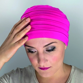Bonnet chimio bambou - MM PARIS FUSHIA