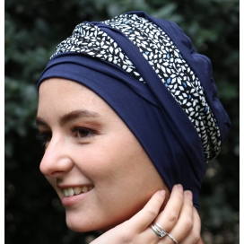 bonnet chimio bambou Doris Bleu Baltique