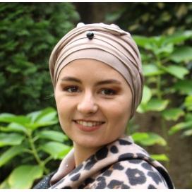 Bonnet chimio Bambou - Aurelie beige