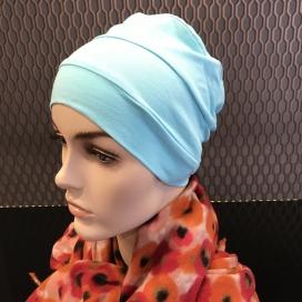 Bonnet Lycra Coton - bonnet bleu Turquoise