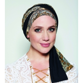 Turban chimio long MADRID - ETHNIQUE MARRON