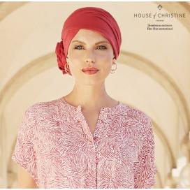 Bonnet chimio - ZURI Coton Rouge