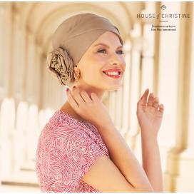 Bonnet chimio - ZURI Coton Praline