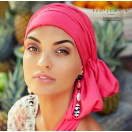 Bonnet chimio BOHO SPIRIT Rose Paradis