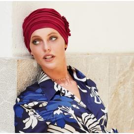 bonnet chimio loreen bambou Rouge framboise
