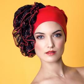 Bonnet FrouFrou rouge