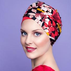 Bonnet Kenaya rouge fleuri