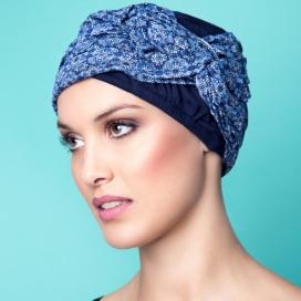 Bonnet Lounia bleu marine