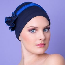 Bonnet Béatrice bleu roi et marine