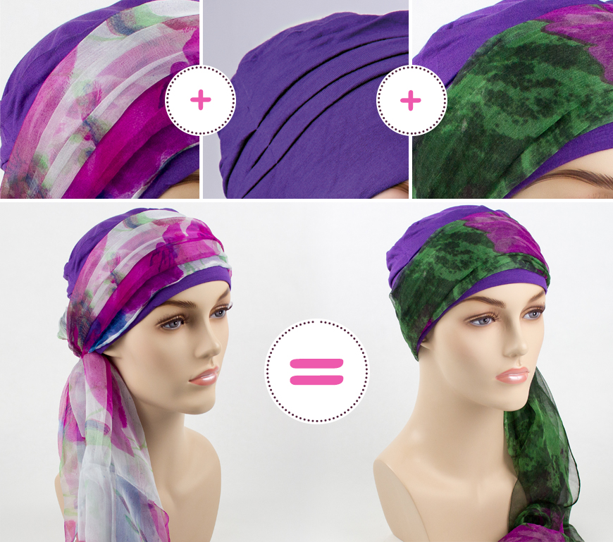 association de bonnet bambou et foulard